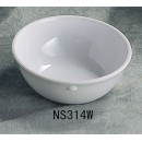 Thunder Group NS314W Nustone White Melamine Nappie 11 oz., 4-3/4""