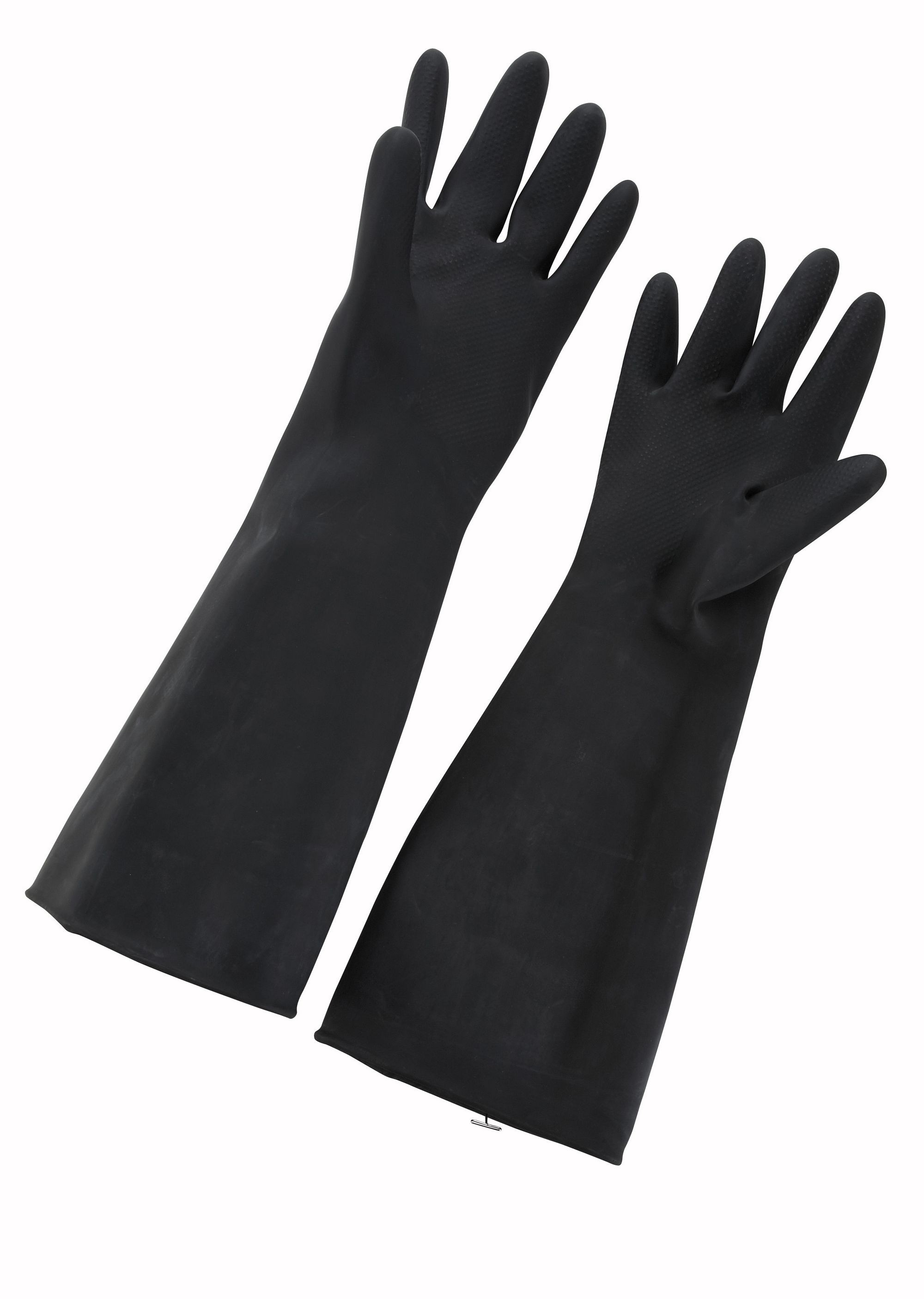 "Winco NLG-1018 Natural Black Latex Gloves 10"" x18"""