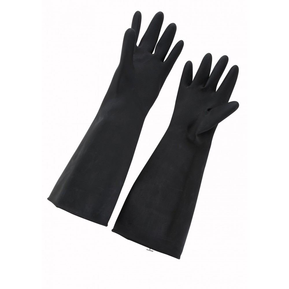 Natural Ivory Size 10 Latex Gloves - 16 L