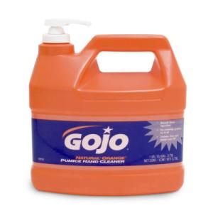 Gojo Natural Orange Pumice Hand Cleaner, Citrus, 1 Gallon Pump Bottle, 4/Carton