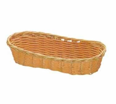 """TableCraft 1117W Natural Oblong Handwoven Basket 9"""" x 3-1/2"""" x 2"""""""