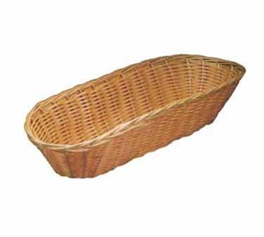 """TableCraft 1118W Natural Oblong Handwoven Basket 15"""" x 6"""" x 3"""""""
