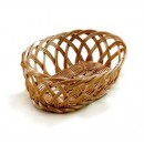 Natural Poly Cord Oval Woven Basket - 9-1/4