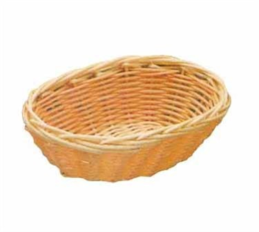 "TableCraft 1171W Natural Oval Handwoven Basket 7"" x 5"" x 2"""