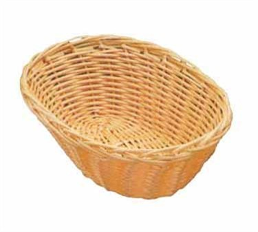 "TableCraft 1174W Natural Oval Handwoven Basket 9"" x 6"" x 2-1/4"""