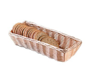 "TableCraft 1116W Natural Rectangular Handwoven Basket 9"" x 3-1/2"" x 2"""
