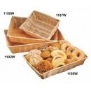 """TableCraft 1187W Natural Rectangular Handwoven Basket 10"""" x 7-1/4"""" x 2-3/4"""""""