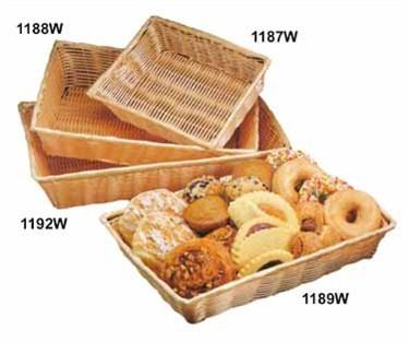 """TableCraft 1192W Natural Rectangular Handwoven Basket 18"""" x 12-1/2"""" x 3-1/8"""""""