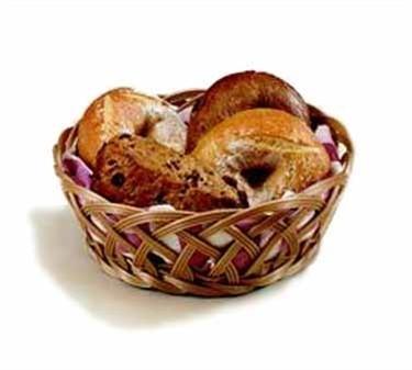 """TableCraft 1135W Natural Round Handwoven Basket 9"""""""