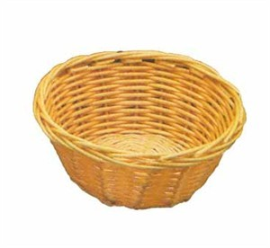 Natural Poly Cord Round Woven Basket - 7