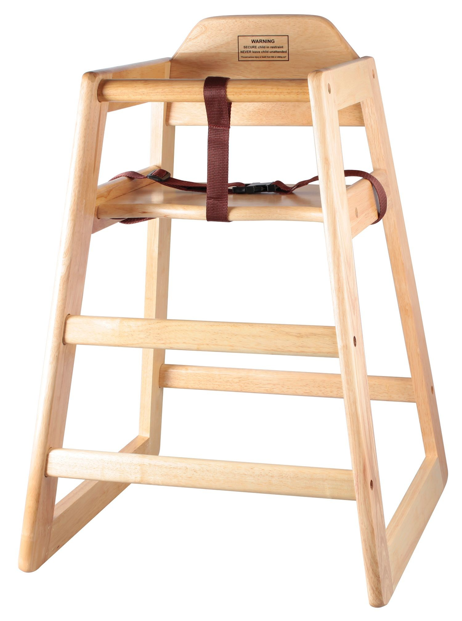 Natural Wood Finish Stacking Hi-Chair (Knocked-Down)