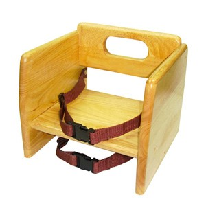 Thunder Group WDTHBS018 Natural Wood Stacking Booster Seat, K/D