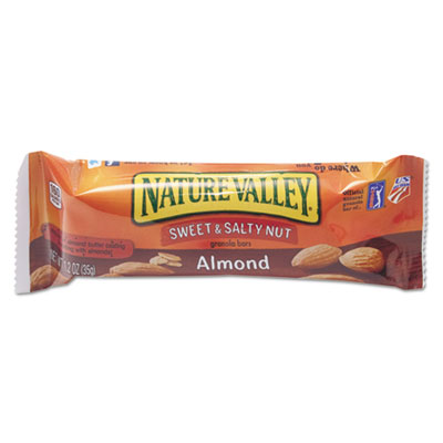 Nature Valley Granola Bars, Sweet and Salty Nut Almond Cereal, 1.2 oz Bar, 16/Box