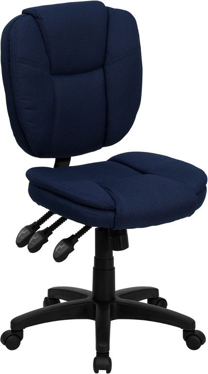 Flash Furniture GO-930F-NVY-GG Navy Blue Fabric Multi Function Task Chair