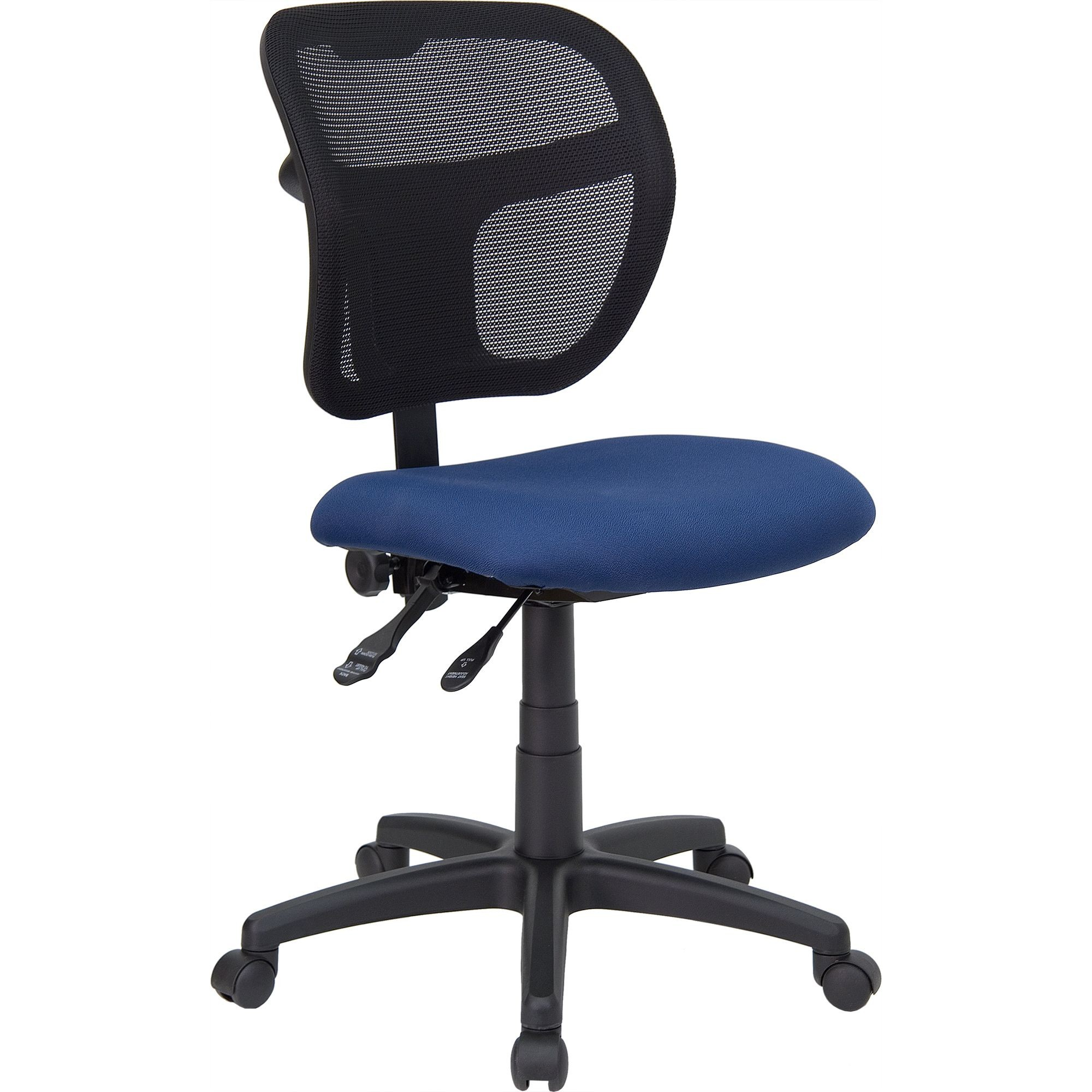 Flash Furniture WL-A7671SYG-NVY-GG Mid-Back Navy Blue Mesh Task Chair with Back Height Adjustment