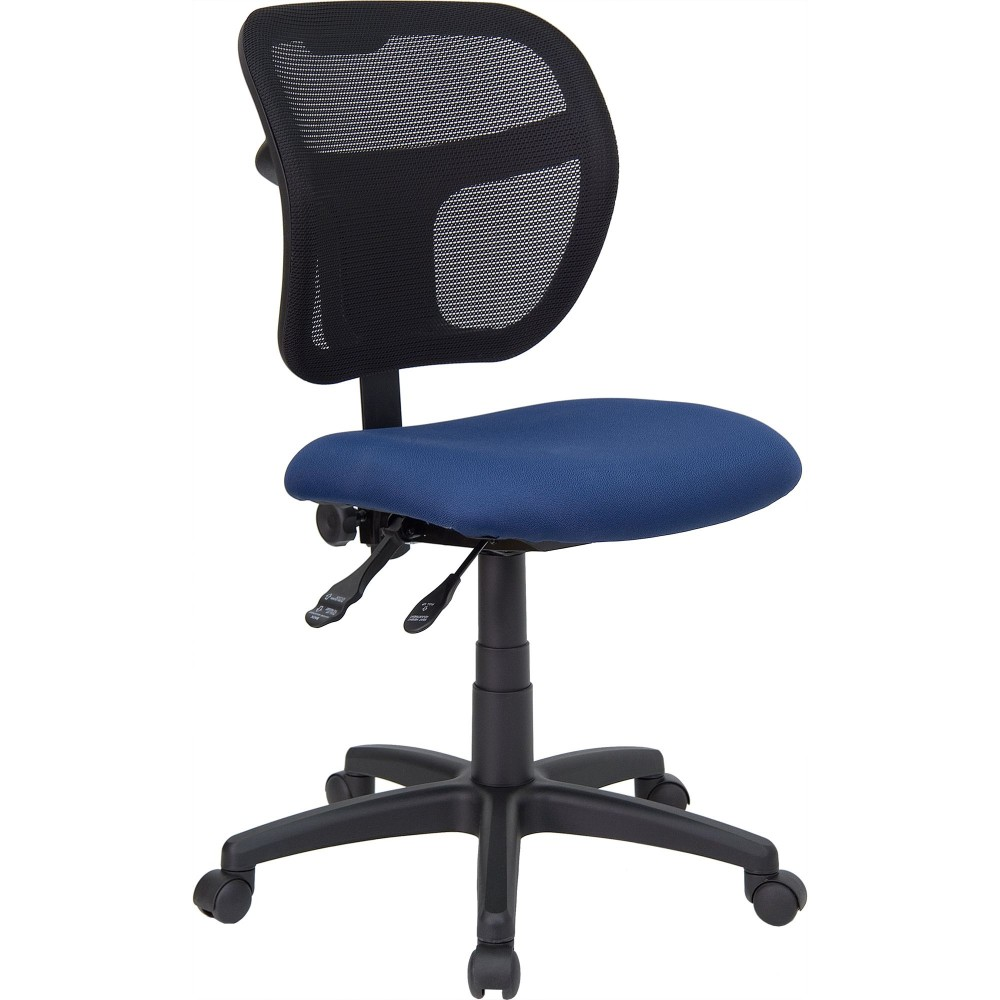 Flash Furniture WL-A7671SYG-NVY-GG Navy Blue Fabric and Mesh Task Chair