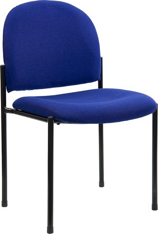 Navy Blue Steel Stacking Chair