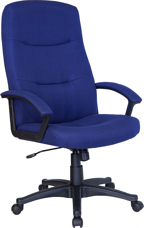 Navy Fabric Upholstered High Back Executive Swivel Office Chair