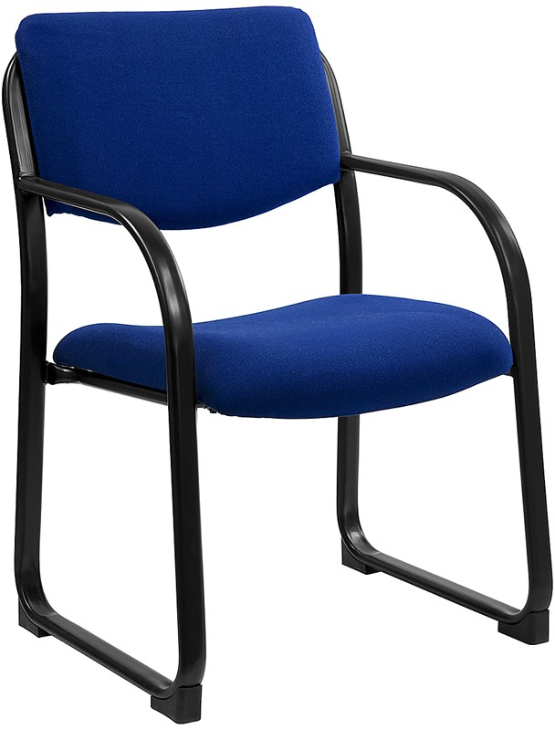 Flash Furniture BT-508-NVY-GG Navy Fabric Upholstered Open Back Side Chair