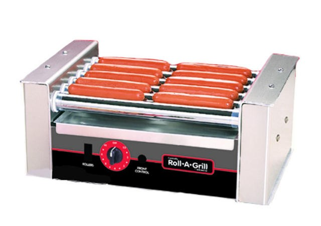 Nemco 8010SX 10-Hot Dog Roller Grill with Gripsit Non-Stick Coating, 120V