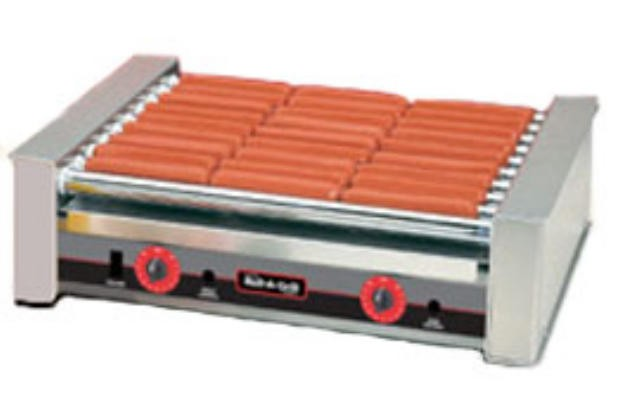 Nemco 10-Hot Dogs Roller Grill With Silverstone - 18-1/2