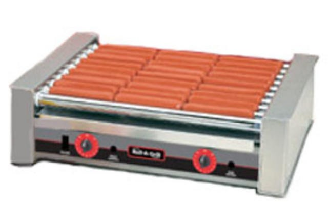 Nemco 8027SX 27-Hot Dog Roller Grill with GripsIt Non-Stick Coating 120V