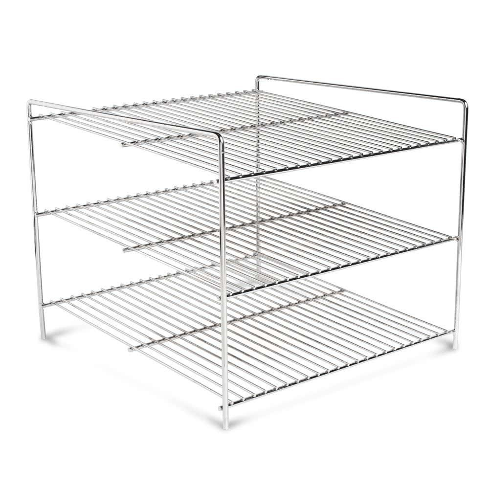 "Nemco 66792 Three Tier 15"" Shelf System for 6454 Pizza and Hot Food Merchandisers"