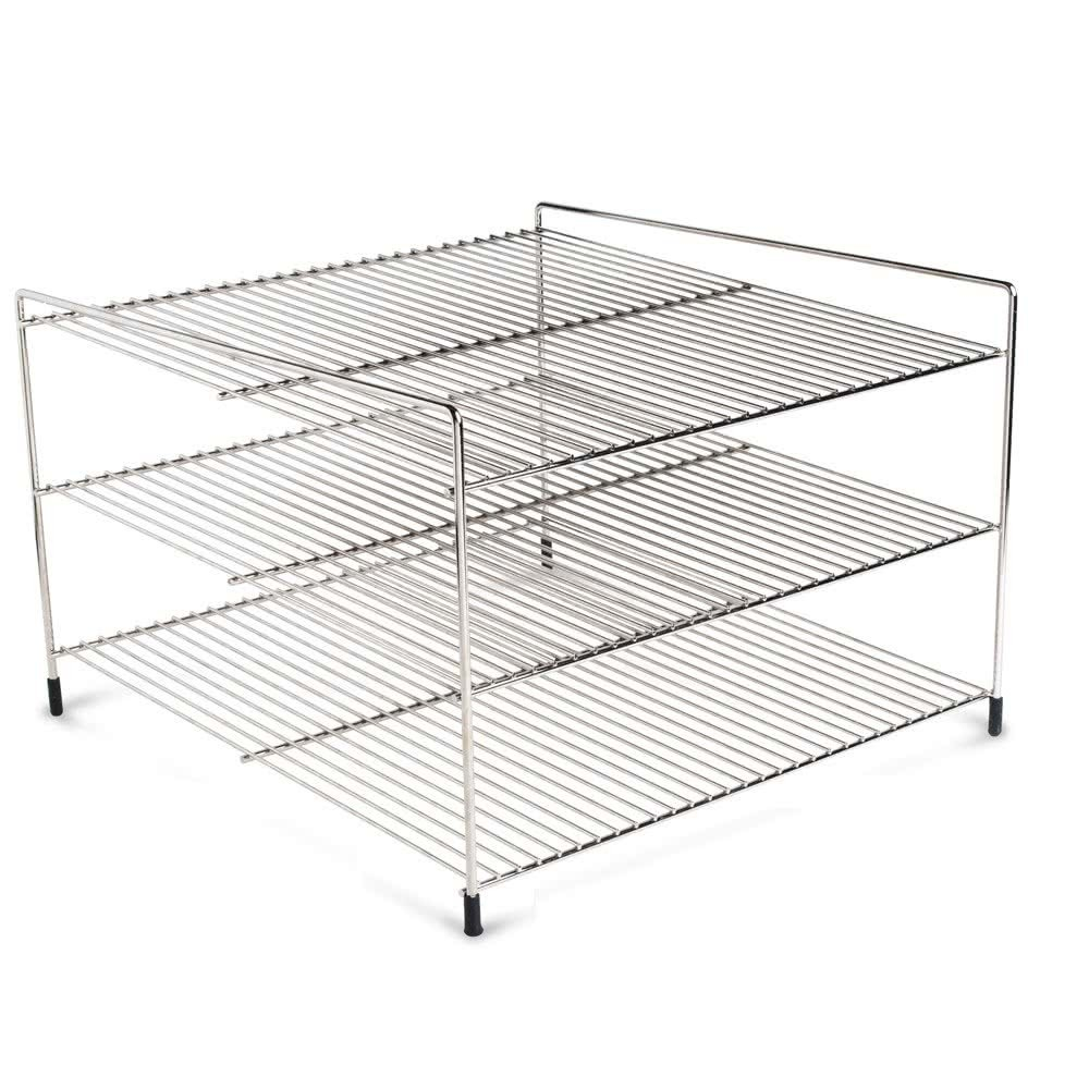 "Nemco 66793 Three Tier 19"" Shelf System for 6455 Pizza and Hot Food Merchandisers"