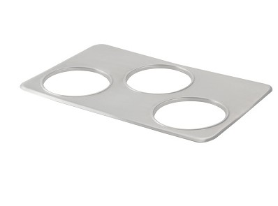 Nemco 68591 3-Hole Adapter Plate for 7 Qt. Insets, Fits 6055A-43