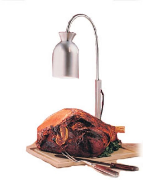 Nemco 6015 Carving Station 1-Bulb Flex Heat Lamp with Polyethylene Base