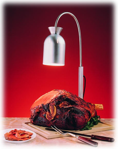 Nemco carving station bulb flex heat lamp with wood base