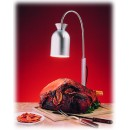 Nemco 6016-C Carving Station 1-Bulb Heat Lamp with Chrome-Finish Wood Base