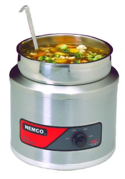 Nemco 6102A Countertop 7 Qt. Round Cooker Warmer
