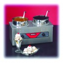 Nemco 6120A-CW-ICL Countertop Twin Well 4 Qt. Cooker Warmer