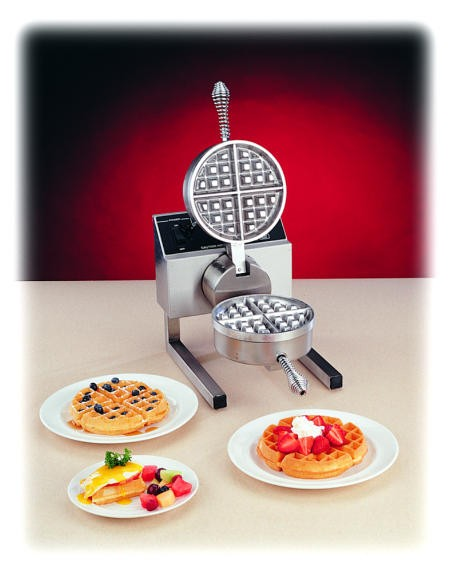 Nemco Digitally-Controlled Fixed Belgian Waffle Baker With Silverstone