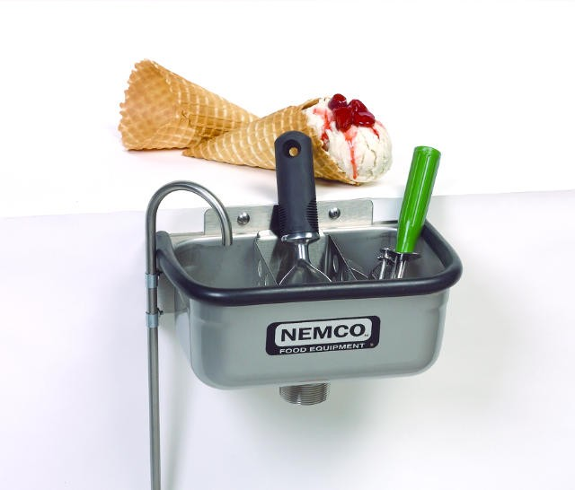 "Nemco 77316-10 Ice Cream Dipper Well 10 3/8"" and Faucet Set"