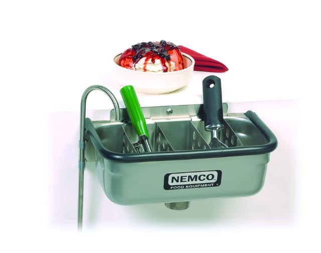 "Nemco 77316-13 Ice Cream Dipper Well 12 3/4"" and Faucet Set"