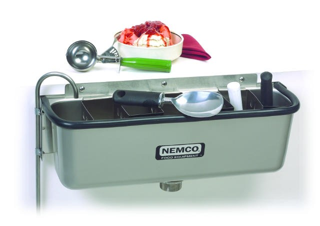 "Nemco 77316-19 Ice Cream Dipper Well 20 5/8"" and Faucet Set"