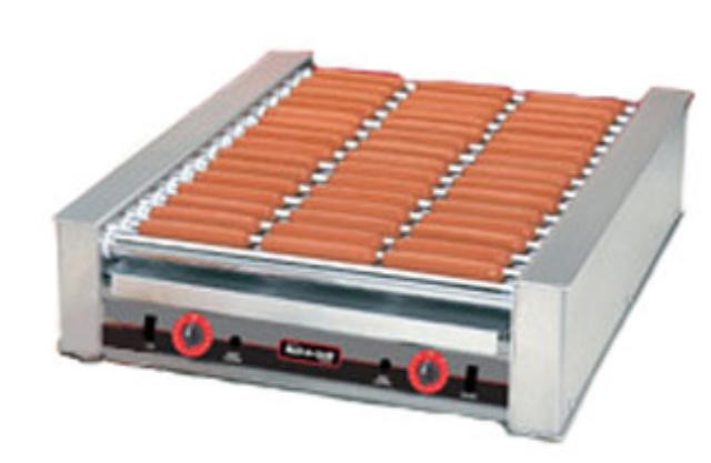Nemco 8045N Narrow 45-Hot Dog Roller Grill, 120V