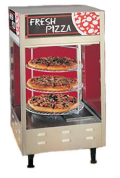 """Nemco 6452 4-Tier Double Door Rotating Pizza Merchandiser, 18"""" Racks"""