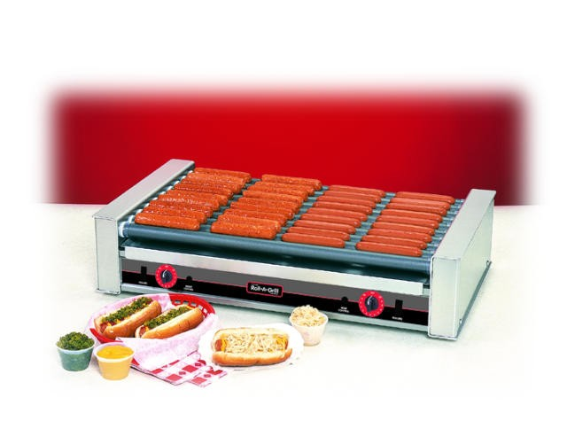 Nemco 8036SX 36-Hot Dog Roller Grill with GripsIt Non-Stick Coating, 120V