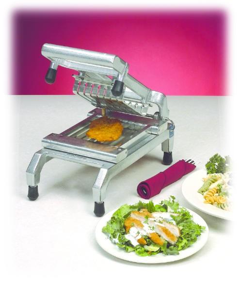 """Nemco 55975-1SC Stainless Steel Easy Chicken Slicer 3/8"""" Scalloped"""