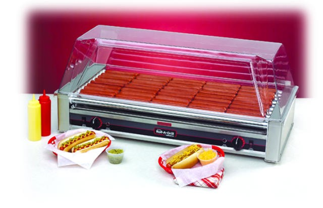 Nemco Wide 45-Hot Dog Roller Grill - 35-1/2