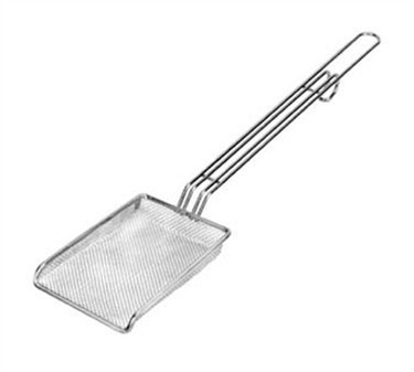 "Franklin Machine Products  226-1001 Nickel-Plate d 4"" x 6"" Scoop/Skimmer with 13"" Handle"