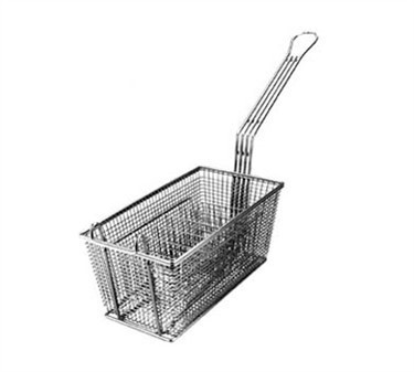 "Franklin Machine Products  225-5002 Nickel-Plate d Portion Control Fry Basket 12-1/8"" x 6-5/16"""