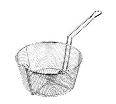 Nickel-Plated Round Fine Mesh Basket - 9-3/4