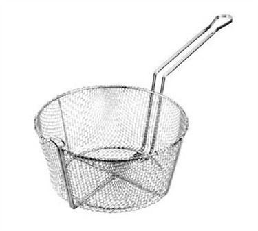 "Franklin Machine Products  226-1061 Nickel-Plate d Round Fine Mesh Basket 11-1/4"" Dia. x 6""H"