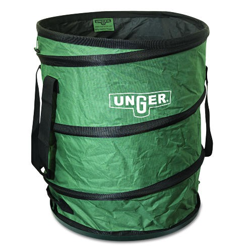 Nifty Nabber Bagger Portable Waste Receptacle, Round, Cloth, 55 gal, Green