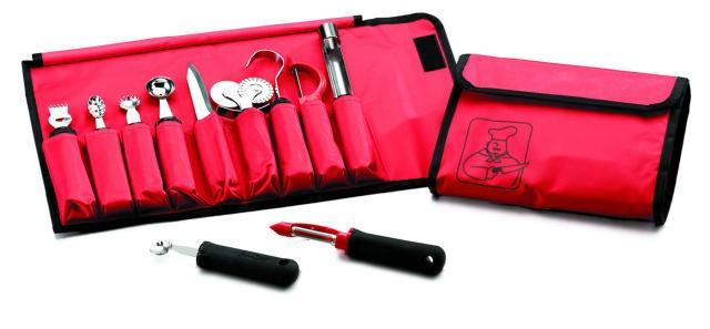 TableCraft E5600-9 9-Piece Garnish Set with Nylon Case