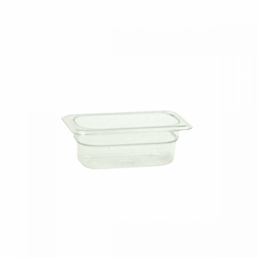"Thunder Group PLPA8192 Ninth Size 2 1/2"" Deep Plastic Food Pan"
